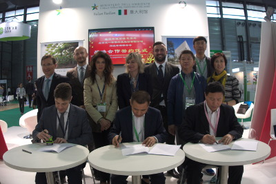Firma tra EEGEX ed Hebei Environment Protection Federation